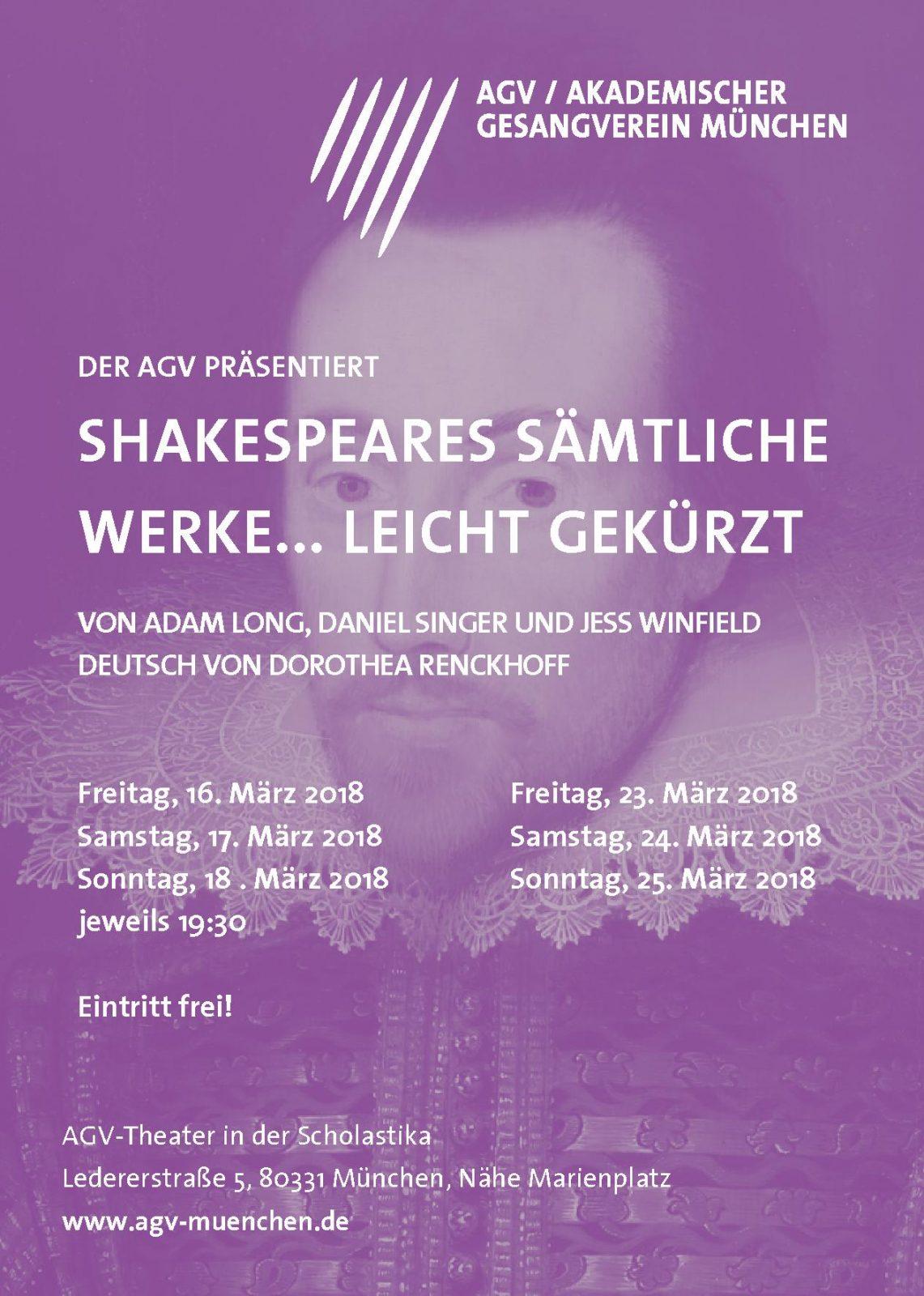 Großes AGV Theater: Shakespeares sämtlich Werke (leicht gekürzt)