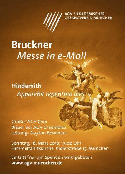 Bruckner und Hindemith: Konzert des großen AGV Chor