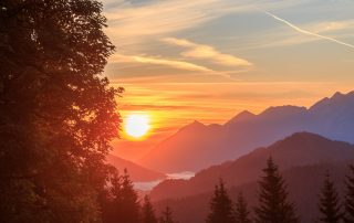Sonnenaufgang Drehmöser Skihütte Garmisch Partenkirchen