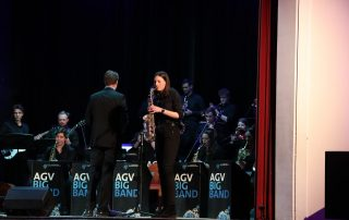 Saxophon Solistin Swingin' Scholastika 2019