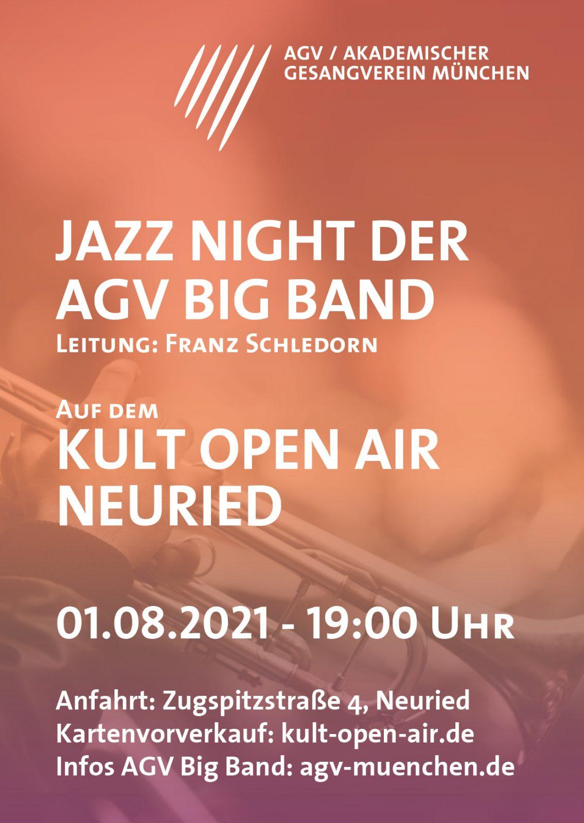 Flyer für die Jazz Night am Neurieder Kult Open Air 2021